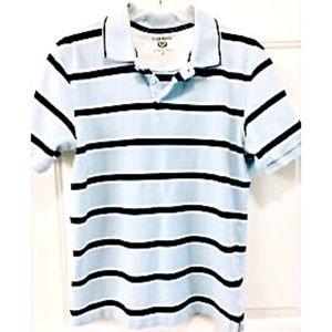 Club Room Men's Shirt Polo Medium Blue Dark Stripe